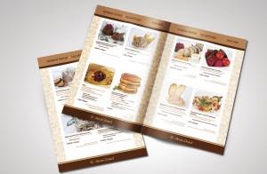 Закуски дизайн меню
