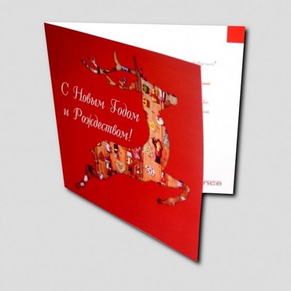 открытка с оленем